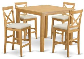 East West Furniture Cafe 5 Piece Counter Height Pub Table Set East West Furniture
