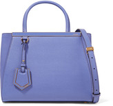 Fendi Petite 2jours paneled smooth and textured-leather tote