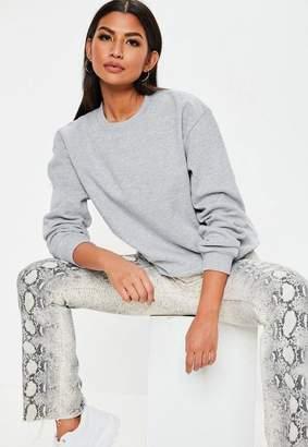 Missguided Gray Basic Sweatshirt