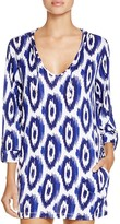 Macbeth Collection Printed Hooded Tunic Swim Cover Up