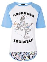 'espresso Yourself' Slogan Pyjama Set