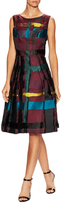 Carolina Herrera Boatneck Pleated Dress