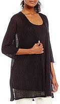 Eileen Fisher Kimono 3/4 Sleeve Cardigan