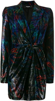 DSQUARED2 Velvet Suit Jacket Dress