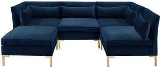 One Kings Lane Marceau U-Shaped Sectional - Navy Velvet