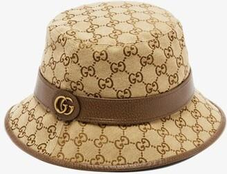 Gucci GG Supreme Canvas Bucket Hat - Beige