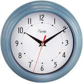 La Crosse Technology Equity 25014 Round Plastic Analog Wall Clock, 8-Inch