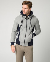 Le Château Colour Block Cotton Blend Hoodie