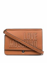 Thumbnail for your product : Love Moschino Logo-Embroidered Satchel