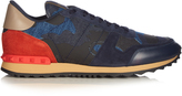 Valentino Rockrunner Camoucouture-print denim trainers