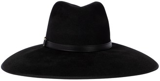 Gucci Horsebit leather-trimmed felt hat