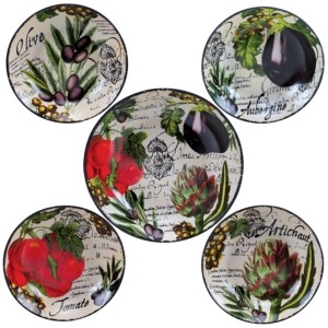 Certified International Botanical Veggies 5-Pc. Pasta Sets