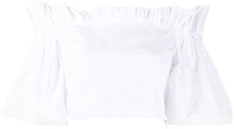 Philosophy di Lorenzo Serafini Off-Shoulder Cropped Blouse