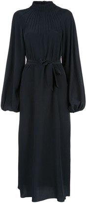 Rochas Tie Waist Midi Dress