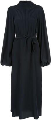 Rochas Tie Waist Midi Dress