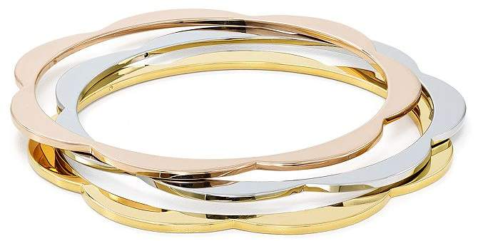 Kate Spade Scalloped Thin Bangle Bracelets, Set of 3