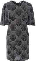 Dorothy Perkins Petite Silver Angel Sleeve Bodycon Dress