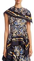 Peter Pilotto Silk Twill Scarf Top