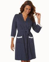 Soma Intimates Belabumbum Cotton Nursing Short Robe Navy Dot