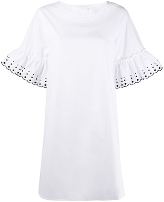 See by Chloe Embroidered-Dots Mini Dress