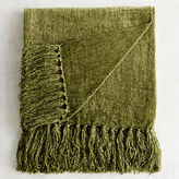 Pier 1 Imports Olive Chenille Throw