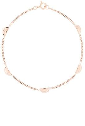 Natalie Marie 9kt rose gold Ochre Tile charm bracelet