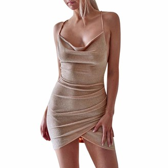 Jerfer Women Sleeveless Sling Mini Dress Party Backless Dresses
