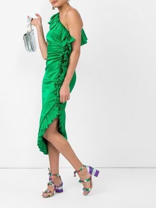 ATTICO ruffle edge dress
