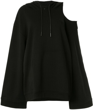 Oversized Cut-Out Shoulder Hoodie