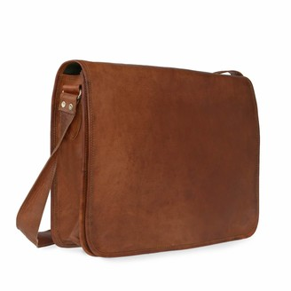 Vida Vida Vida Vintage Classic Leather Messenger Bag