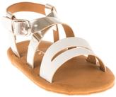 Polo Ralph Lauren Silver Specchio & White Sabrina Leather Sandal - Infant