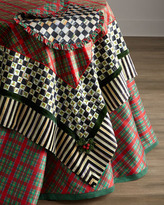 "Mackenzie Childs MacKenzie-Childs Holiday Tartan Tablecloth, 90""Dia."