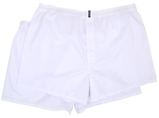 Jockey Big Man Classic Full Cut Blended Boxer 2-Pack (White) Men's Underwear