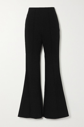 Low Classic Crepe Flared Pants - Black