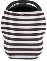 JLIKA Multi Use Baby Car Seat Canopy and Nursing Cover (Chocolate/White Stripe)