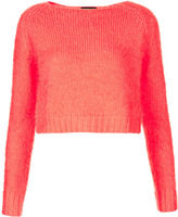 Topshop Knitted Fluffy Crop Top