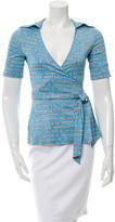 Diane von Furstenberg Silk Wrap Top