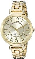 Nine West Women's NW/1768CHGB Gold-Tone Bracelet Watch