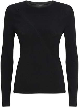 Akris Zip Detail Long-Sleeved Top