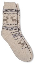 Merona Women's Crew Socks Shell Critters Brushed for Warmth One Size