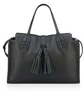 Anne Klein Mila Tassel Leather Satchel