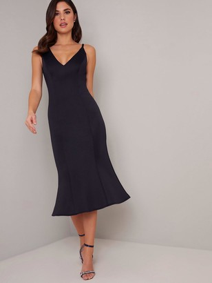 Chi Chi London Cecilie Dress - Navy