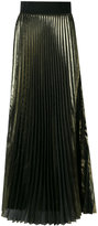 Galvan high-waisted pleated maxi skirt