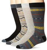 Lucky Brand Lucky Men's 4 Pair Pack Native Geo Crew Socks