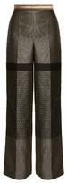 Amanda Wakeley High-rise wide-leg geometric-jacquard trousers