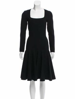 Alaia Knee-Length Flared Dress Black