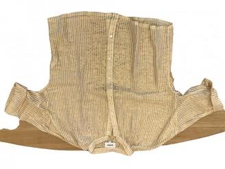 Polder Gold Cotton Top for Women