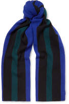 Acne Studios Ninos Fringed Striped Wool Scarf