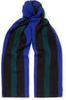 Acne Studios Ninos Striped Wool Scarf - Royal blue
