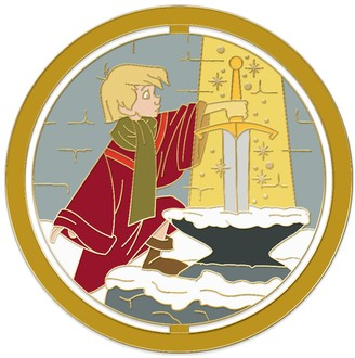Disney Wart Spinner Pin The Sword in the Stone Enchanted Emblems Pin of the Month Limited Edition